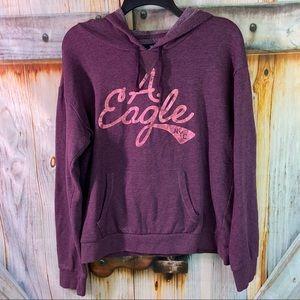 VGUC American Eagle Hooded Sweatshirt Burgundy Juniors Large